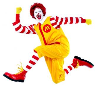 Ronald McDonald- klaun będący maskotką marki McDonald's