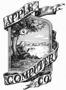 Projektowanie nazw i logotypów - pierwsze logo Apple