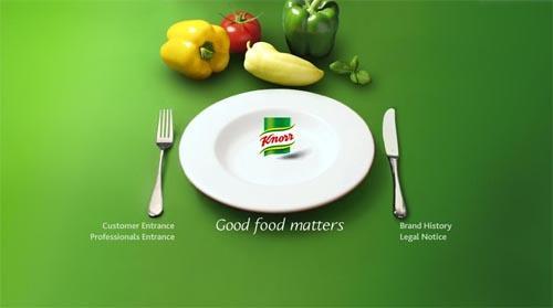 Reklama marki Knorr na brytyjskim rynku.