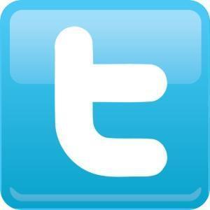 """Logiem Twittera jest biała litera """"t"""" na niebieskim tle."""