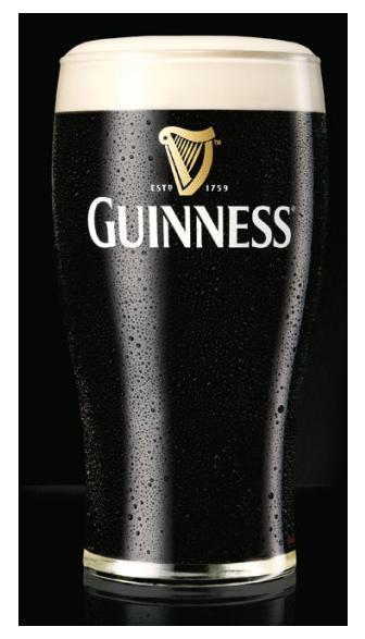 Najsłynniejsze irlandzkie piwo to Guinness.