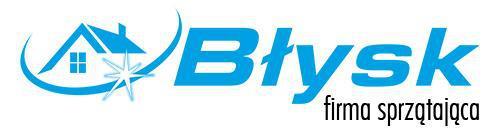 logo firmy sprzątającej błysk